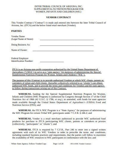 retail store vendor contract