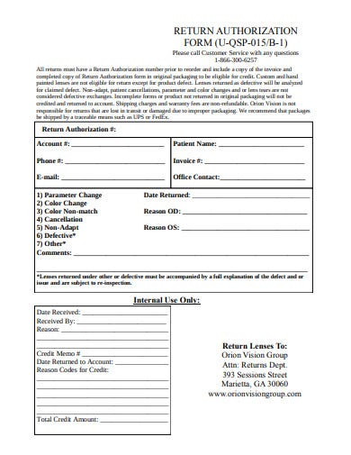return-authorization-form-template