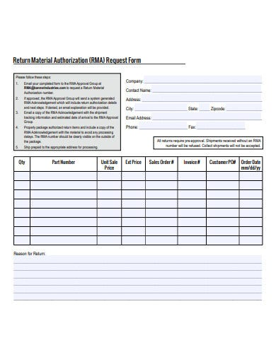 return-material-authorization-request-form