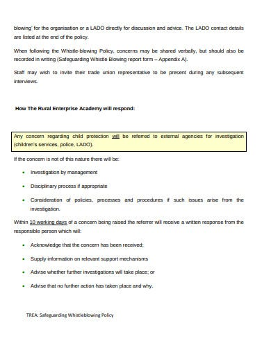 safeguarding charity whistleblowing policy template