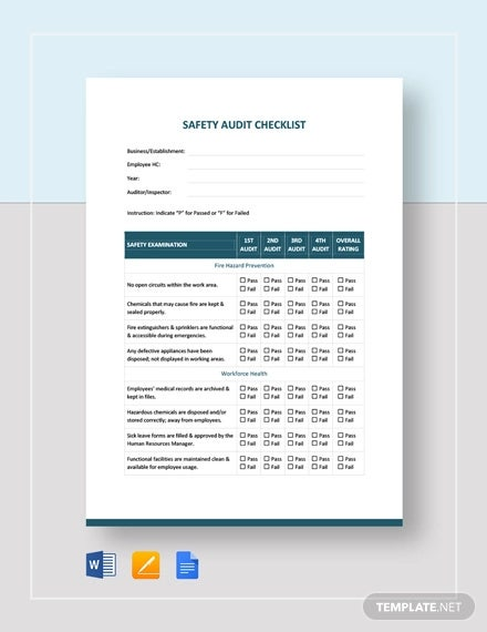 23+ Audit Checklist Templates - Free PDF, Word Format