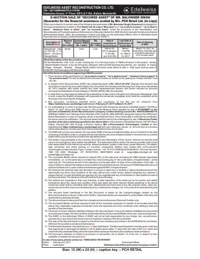 sales retail notice