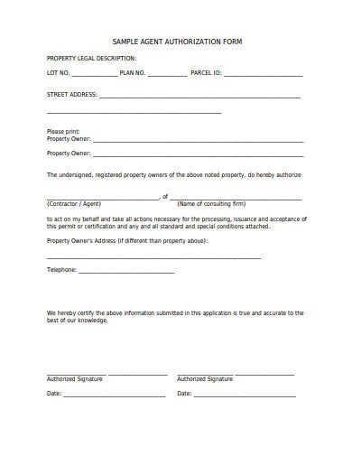 sample-agent-authorization-form-template
