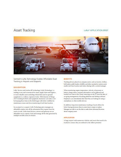 sample asset tracking template