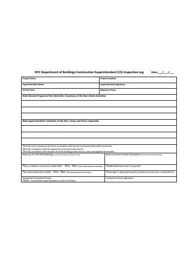 sample construction daily log template