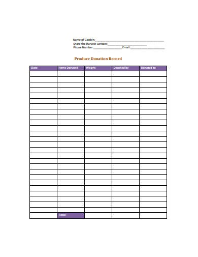 6  donation log templates in pdf