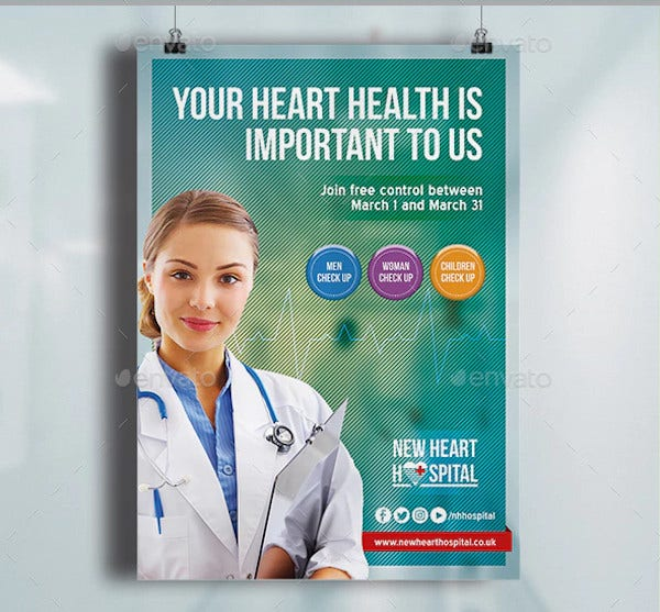 sample hospital poster template