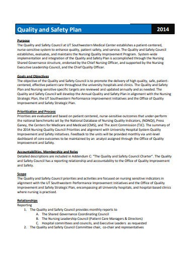 3+ Nursing Quality Plan Templates in PDF | Free & Premium ...