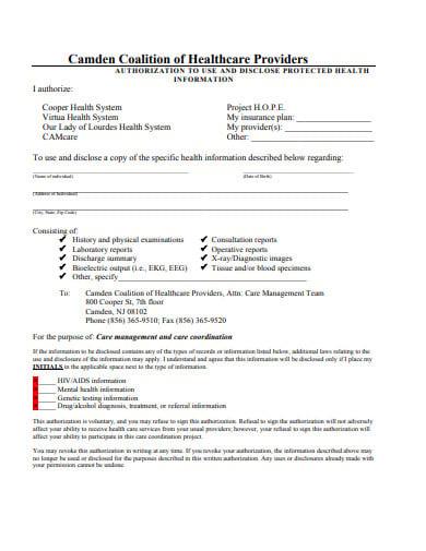 sample patient consent form