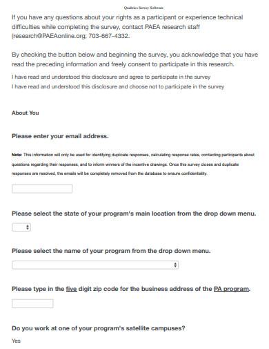 sample qualtrics survey software
