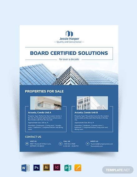 sample real estate broker flyer template
