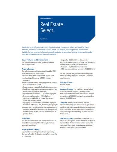 sample real estate fact sheet template