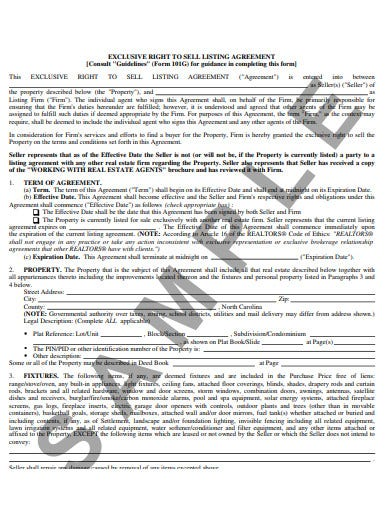4 Real Estate Listing Form Templates In Pdf Free