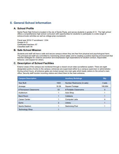 sample school safety plan template
