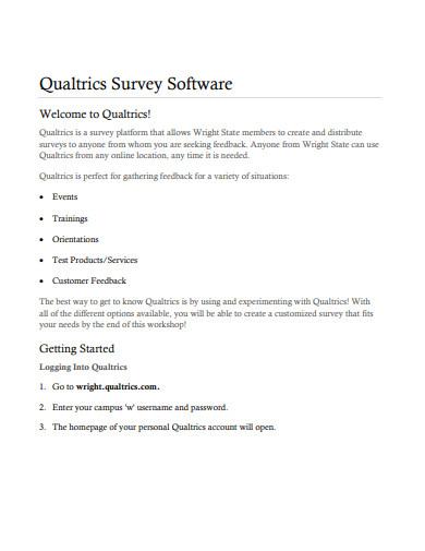 sample software survey template