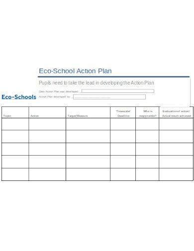 school action plan simple
