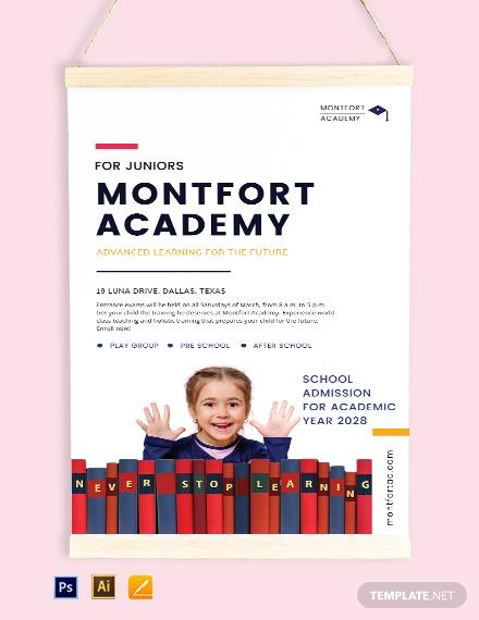 school advertisement poster template 1