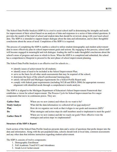 school data analysis plan template