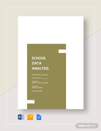school data analysis template