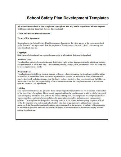 school safety plan development templates