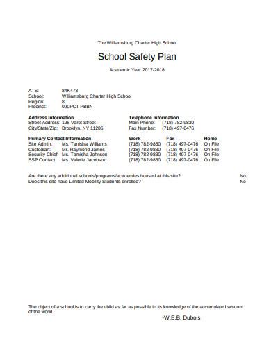 school safety plan in pdf