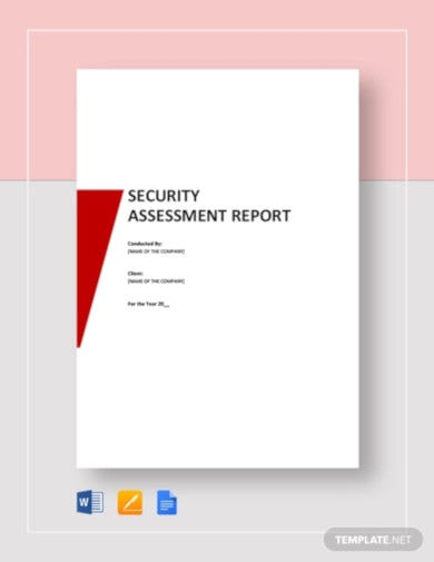 security assessment report template1