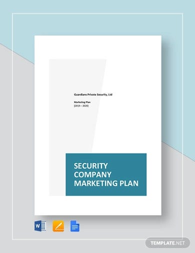 security company marketing plan template