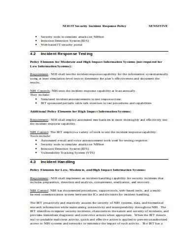7 Security Incident Response Plan Templates In Pdf Doc
