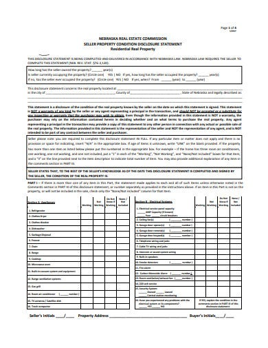 seller property commission statement