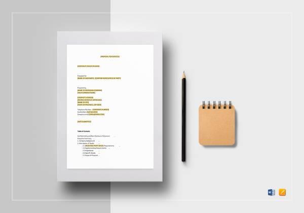 service proposal template mockup