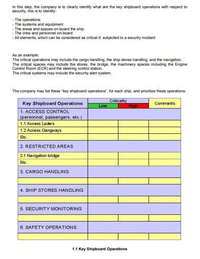 ship security assessment template