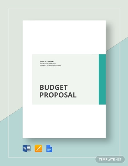 simple budget proposal