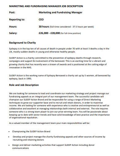 simple charity job description