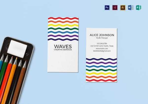 simple creative business card mock up