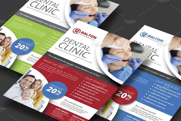simple dental clinic flyer template