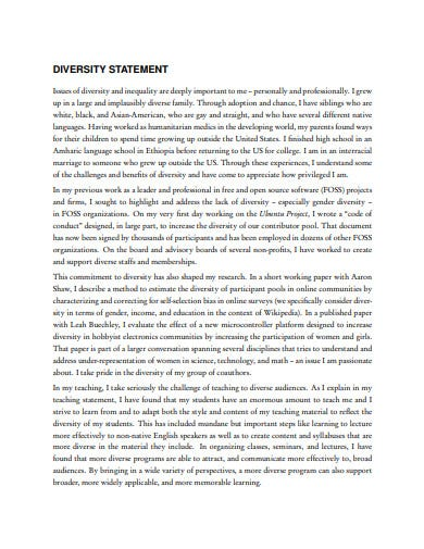 23  diversity statement templates in pdf