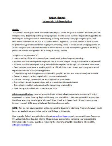 simple internship job description