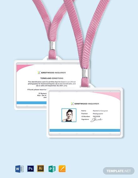simple photographer id card1