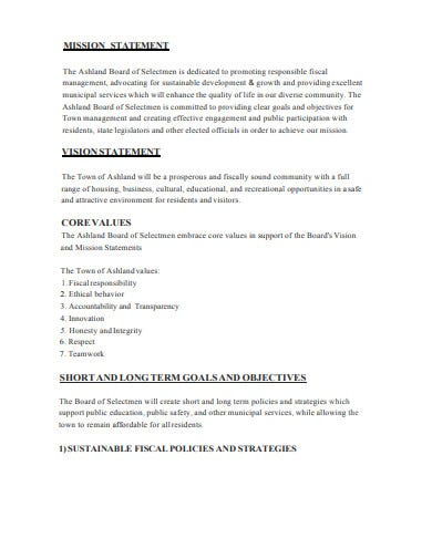 simple real estate mission statement template