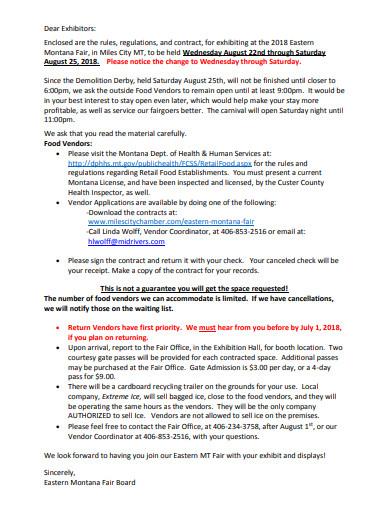 simple retail food vendor contract