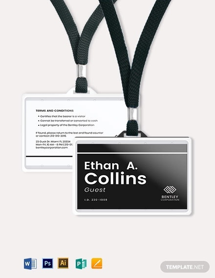 simple visitor guest id card1