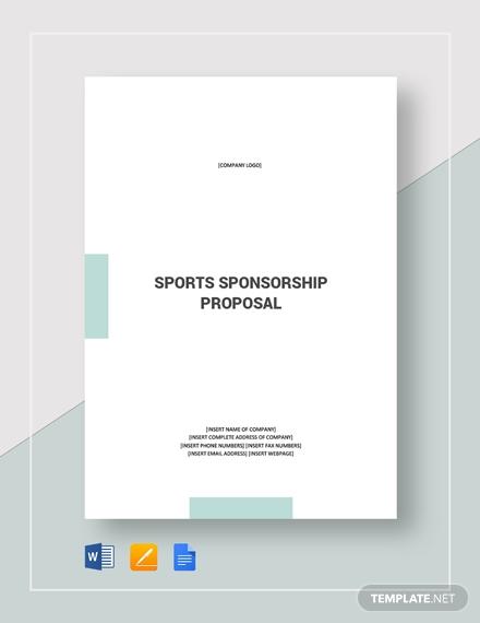 sports sponsorship proposal