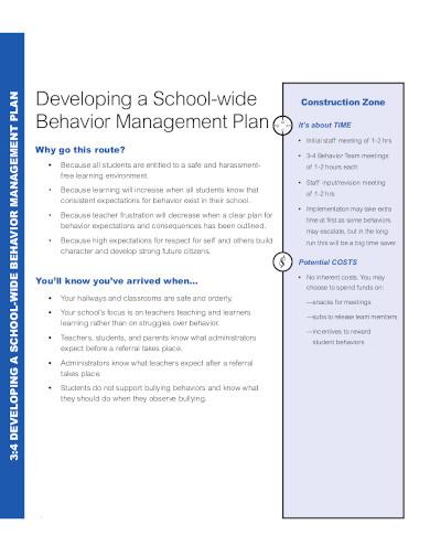 standard behaviour management plan template