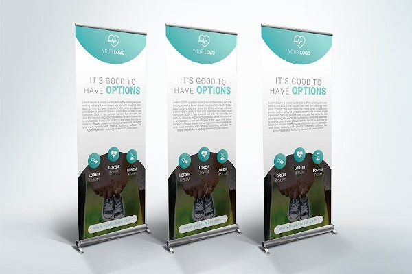 standard medical roll up banner template
