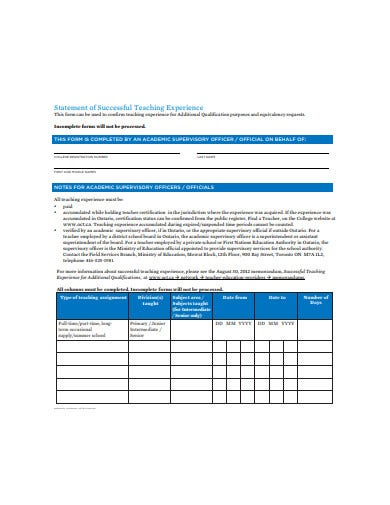 20 Statement Of Experience Templates In Pdf Doc Free