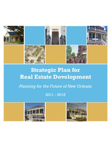 strategic plan for real estate development template