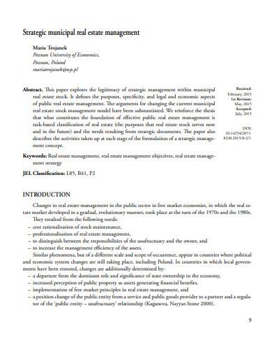 strategic municipal real estate management journal