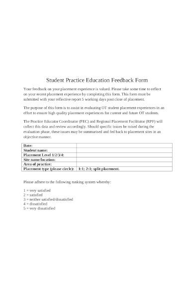 student-practice-education-feedback-form