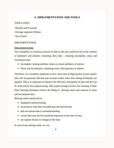 summer internship project report summary template