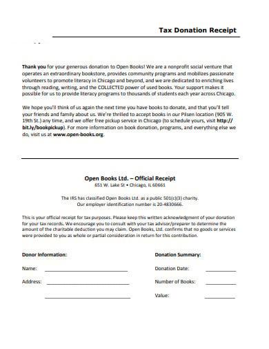 tax donation receipt letter in pdf